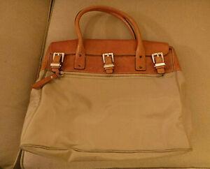 vintage Michael Michael Kors Large Nylon & Leather Bag, many pockets c2000
