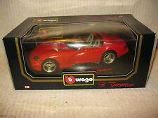 1992 bburago DODGE VIPER RT/10, 1:18 SCALE, COD. 3025, DIE CAST TOY CAR
