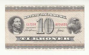 Denmark 10 kroner 1972 replacement rare 0K suffix @ low start