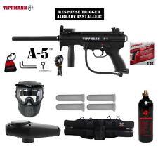 Tippmann Maddog A-5  Response Trigger Silver Paintball Gun Marker Package