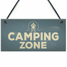 Camping Zone Caravan Signs And Plaques Novelty Chic Mum Dad NAN Gift For Her