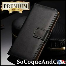 Etui coque Housse Cuir Genuine Split Leather Wallet case cover Sony Xperia L4