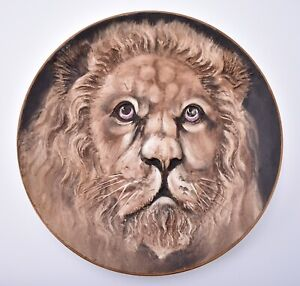 Big Nippon Blown Out High Relief Lion Wall Charger Plaque Antique Noritake Japan