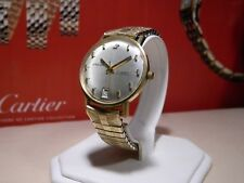 Rare Mens Enicar Ocean Pearl Gold Plaque G20 17Jewel Automatic Watch 10k GF Band
