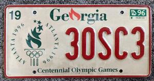 Georgia 1996 Centennial Olympic Games License Plate 30SC3