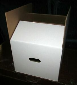 """Lot of 300 Plain White Heavy Duty Bankers Boxes with Handles 10"""" X 12"""" X 15"""""""