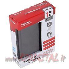 "HARD DISK TOSHIBA HDTB310EK3AA 1TB USB 3.0 ESTERNO HD 2,5"" 1000Gb PICCOLO 1 TERA"