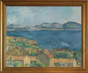 Classic Framed Paul Cezanne The Bay of Marseilles Seen Giclee Canvas Print