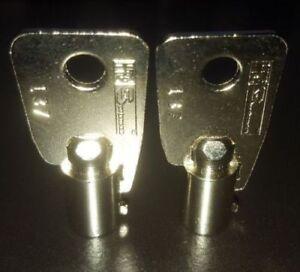 2 New Sentry Safe Keys Code Cut 2001 - 2100 Tubular Round Ace Key