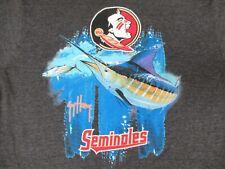Florida Seminols - Fsu - Guy Harvey - Grande Gris Camiseta - W1974