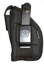 Gun holster With Extra-Magazine Holder For Glock 19,23,32 With Laser