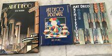 Collectors Book Lot - , Art Deco tableware, Architecture And Art Deco Eva Weber