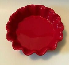Red Ceramic Fluted Baking Dish by Celebrate It Dishwasher Microwave Safe 6""