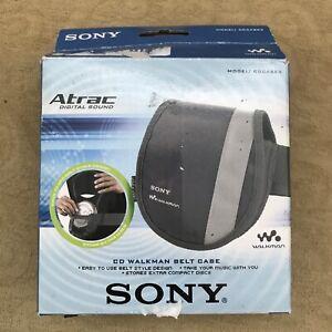 2003 Sony Atrac CDCASE3 Walkman Discman Belt Carry Case & Extra Disc Storage NEW
