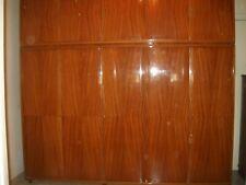 Armadio in legno tamburato in mogano 2,40x60x2,20, 5 sportelli sotto e 5 sopra