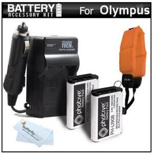 New! NIB 2 Pack Battery and Charger Kit Bundle for Olympus LI-90B / LI-92B