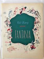 SIGNED FANTASIA PROGRAM  BY ANIMATOR JOHN HENCH with Disney Newsreel about Hench