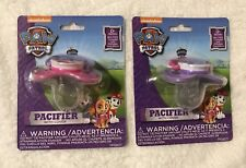 Paw Patrol Baby Pacifiers Girl Pups Skye & Everest NEW- BPA FREE