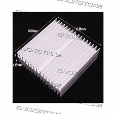 1pc 60x60x10mm HEAT SINK ALUMINUM for memory CHIP CPU DISSIPATORE LED AQUARIUS