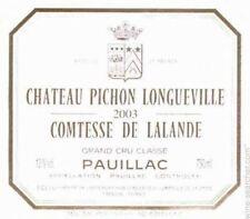 1 magnum da 1,5 lt. Pauillac Chateau Pichon Comtess Loungeville Lalande 2006