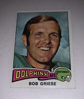 1975 Bob Griese # 100 Miami Dolphins Topps NFL Football Card HOF QB