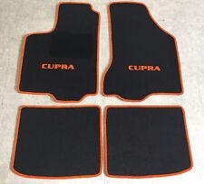 Autoteppiche Fußmatten für Seat Ibiza Cupra 6K 4tlg 1993-2002 schwarz-orange Neu