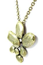 Señoras De Metal De Oro Floral Collar Grueso declaración única (st38)