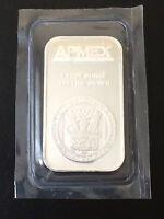 1 oz APMEX Silver Bar, .999 Fine, 1 Troy Ounce