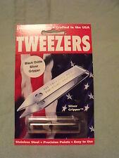 Uncle Bill's Sliver Gripper TWEEZER, Keychain - Black Oxide - EDC/Survival Tool