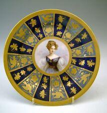 SEVRES PRUNK TELLER PORTRÄT DAME FRANCE FRANKREICH PORTRAIT OF A LADY  DAT. 1846