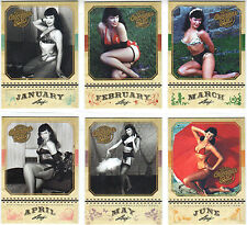 Bettie Page [Leaf 2014] - Calendar Girl subset [12 cards]