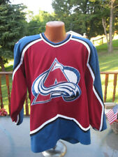 Vintage Colorado Avalanche Authentic Jersey  With Fight Strap Medium RARE