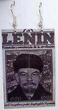 ORECCHINI OPERE D' ARTE LENIN COMUNISMO RUSSO