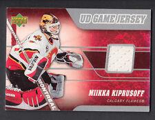 Mikka Kiprusoff 2006-07 Upper Deck Game Worn Black Jersey Card