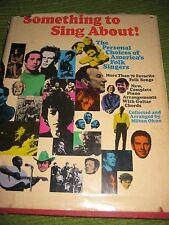Vintage 1968 Original Something To Sing About Folk Singer Milton Okun 241pgs 201
