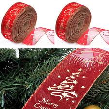 2M Red Xmas Tree Ornament Decorations Party Christmas Ribbon Decor DIY