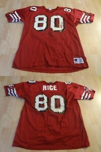 Men's San Francisco 49ers Jerry Rice XL (52) Vintage Jersey Champion Jersey