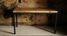Tavolo base ferro e piano con doghe legno massello 90 x 75 stile industriale