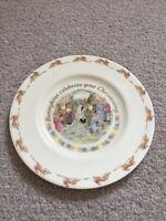 Bunnykins Royal Doulton Christening Plate