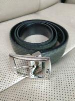 Daniele Alessandrini Mens Belt Leather ITALY Handmade LAVORAZIONE A MANO Green