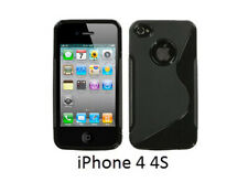 TPU gel silicone case cover S-line black for Apple iPhone 4S / iPhone 4