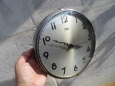 Vintage pendule wall clock uhr horloge style industriel deco design 70's ODO