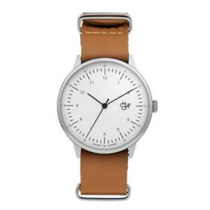 Chpo Brand Watch Armbanduhr Uhr Harold Brown White Silver Vegan & PETA