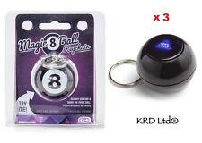 3 X Magic 8 Ball Llavero Cadena Llavero Llavero llenador de la media Novedad Regalo