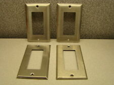 Leviton & Mulberry 97401 1-Gang GFI Decorator Plate, Stainless Steel, Lot of 4