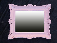 Wall Mirror + Console Tray 56x46 Antique Baroque 811 eingangsmöbel Pink