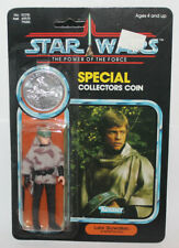 Kenner Star Wars Luke Skywalker Endor Poncho POTF Coin MOC Clear Bubble