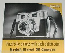 1954 Kodak ad, Kodak Signet 35 Camera