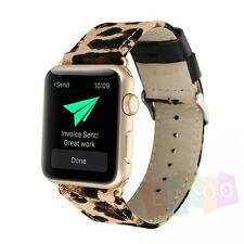 For Apple Watch Series1 Series2 New Leather Sport Woven Bracelet Wrist Camo Band