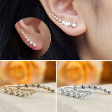 Women Fashion Rhinestone Crystal Earrings Ear Hook Stud Jewelry Gift NEW B5